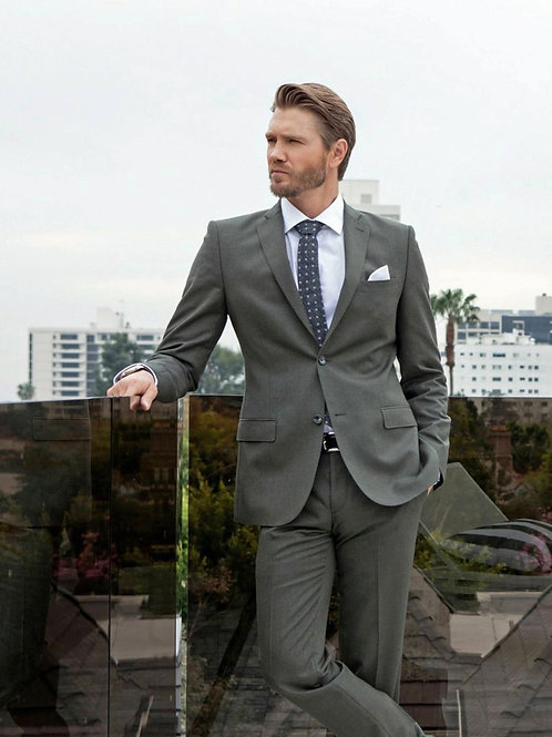 Chad Michael Murray Bulging in a Grey Suit