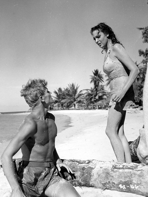 Tab Hunter and Linda Darnell