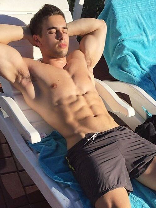 Sexy Swimmer Sunning