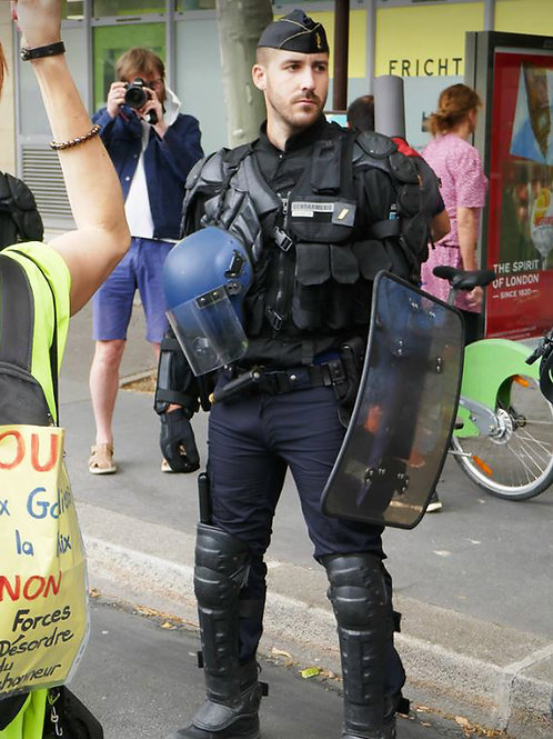 Bulging Cop with a Shield