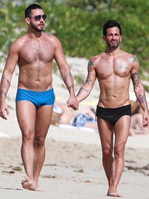 Lorenzo Martone and Marc Jacobs Walking on a Beach