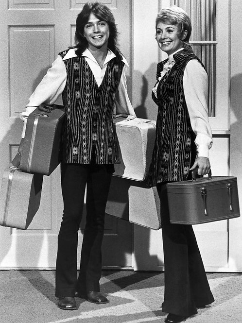 David Cassidy & Shirley Jones Carrying Luggage