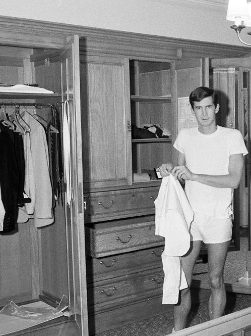 Anthony Perkins in his Boxers