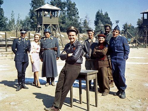 Bob Crane & the Cast of Hogan's Heros Posing on Set