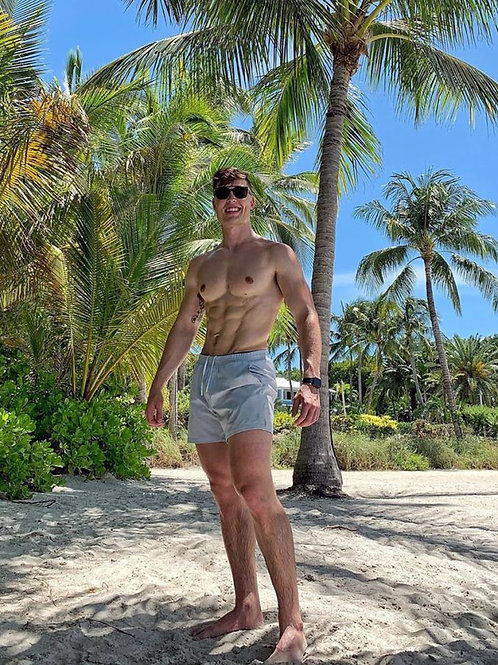 Ripped Stud on a Tropical Beach