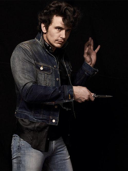 James Franco Pointing Scissors