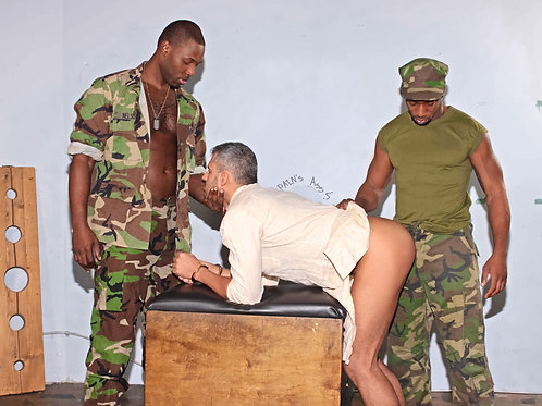 White Soldier Bent Over