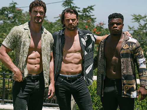 The X Factor Stars Wes Nelson, Ben Foden and Thom Evans