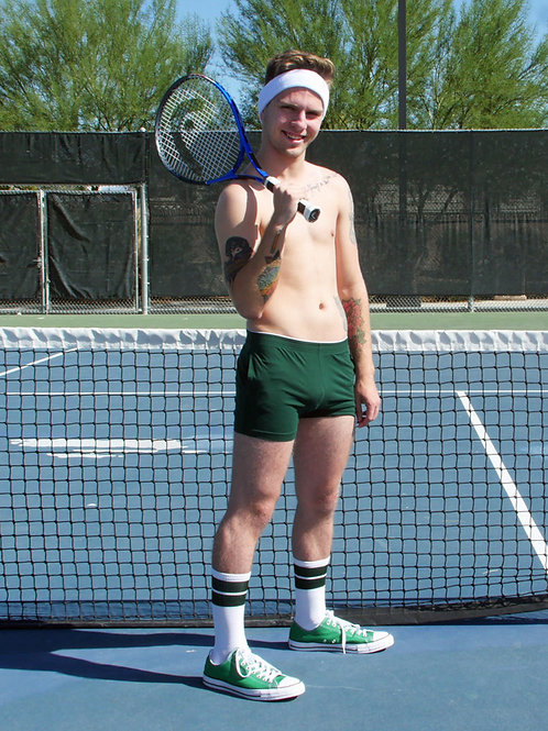 Tennis Player Bulging at the Net