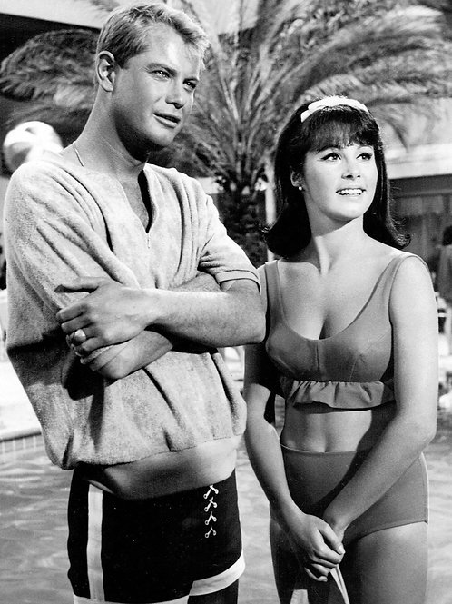 Beautiful Stefanie Powers with Handsome Troy Donahue