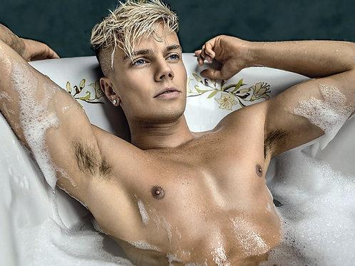 Adam Jakubowski in a Bubble Bath