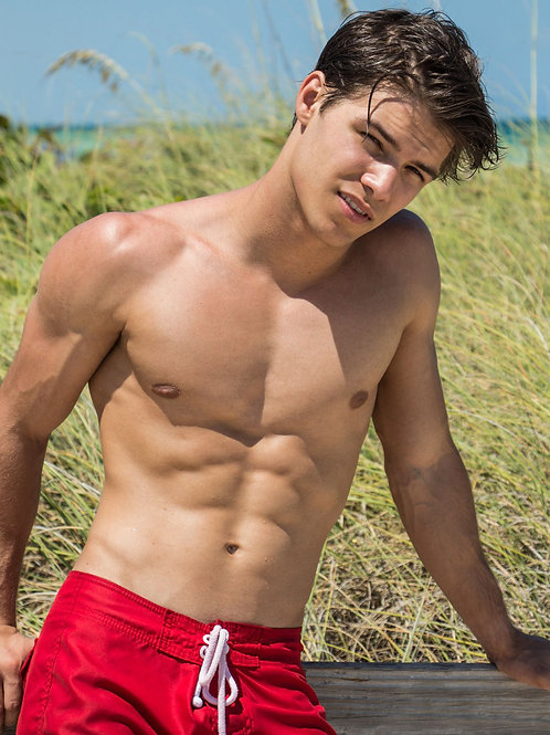 Connor Menendez by the Ocean