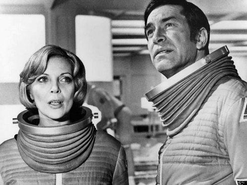 Barbara Bain & Martin Landau in Their Space Suits in the TV Show Space 1999