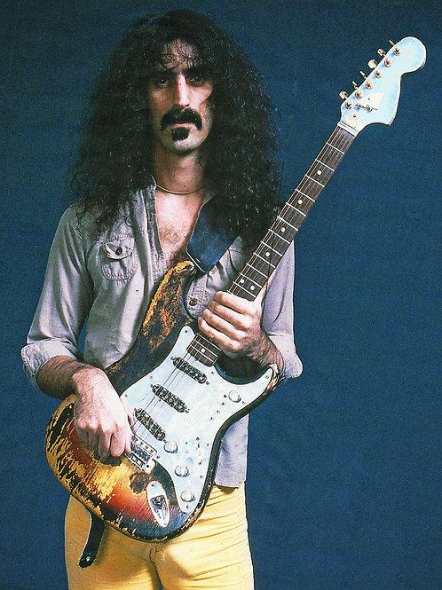 Frank Zappa Strumming his Instrument