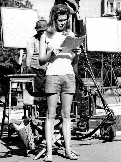 Elizabeth Montgomery Reading the Newspaper