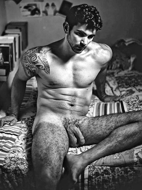 Uncut with Hairy Legs