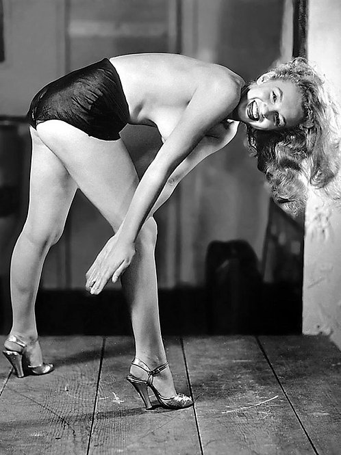 Marilyn Monroe Topless in a Risque Pose in 1948