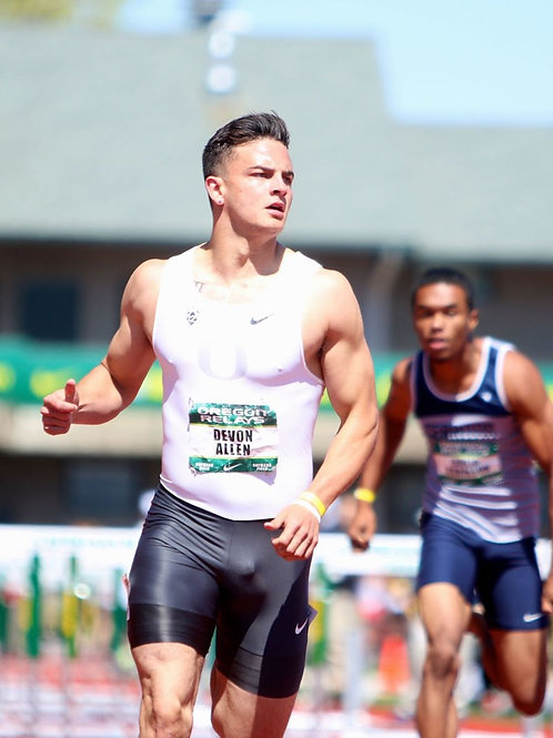 Devon Allen Ahead in the Race