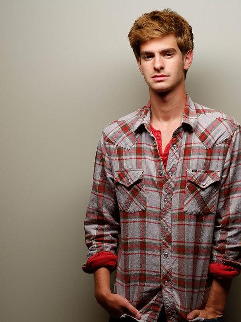 Andrew Garfield Wearing a Plaid Shirt