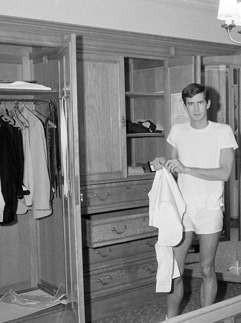 Anthony Perkins Getting Dressed