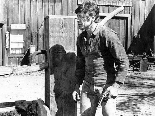 Charles Bronson Holding a Gun
