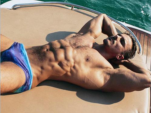 Johnie Bravo Gjergjek on a Sailboat