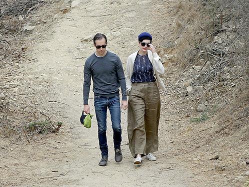 Adam Shulman Bulging as he Walks with his Wife Anne Hathaway