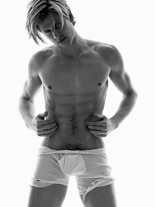 Torn Old White Boxer Briefs