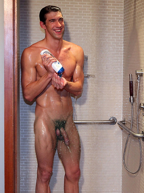 Michael Phelps in the Shower