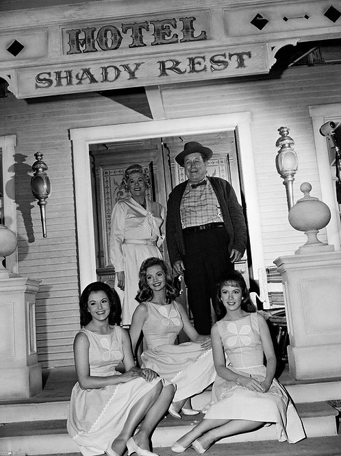 Cast of Petticoat Junction on the Front Porch
