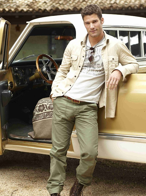 Aaron O'Connell in Green Cargo Pants