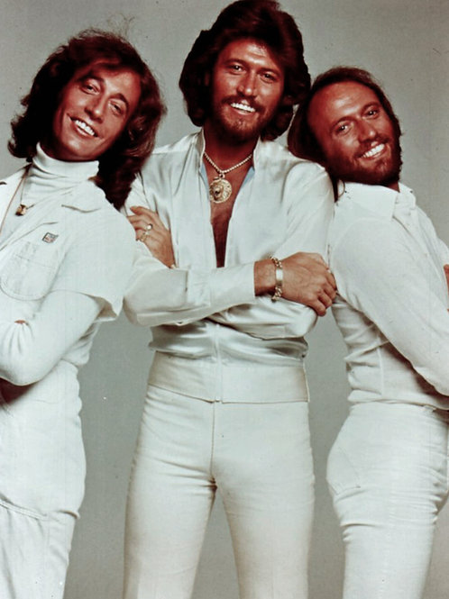 Bee Gees All Dressed in Skin Tight White Pants