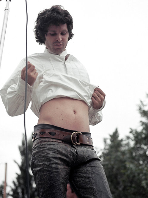 Jim Morrison Flashing his Stomach on Stage