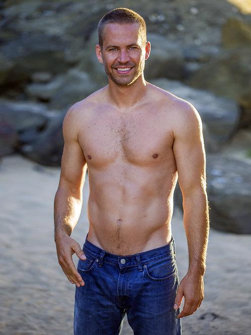 Paul Walker on the Beach Shirtless