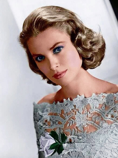 Beautiful & Elegant Young Grace Kelly in a Lacey Top
