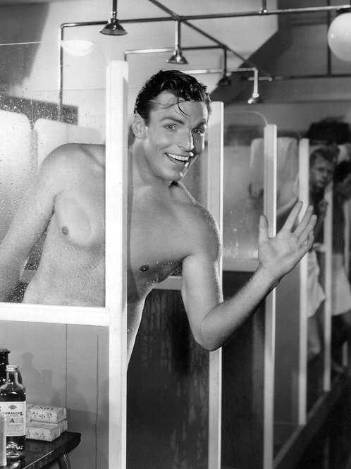 Buster Crabbe Showering in Search for Beauty 1934