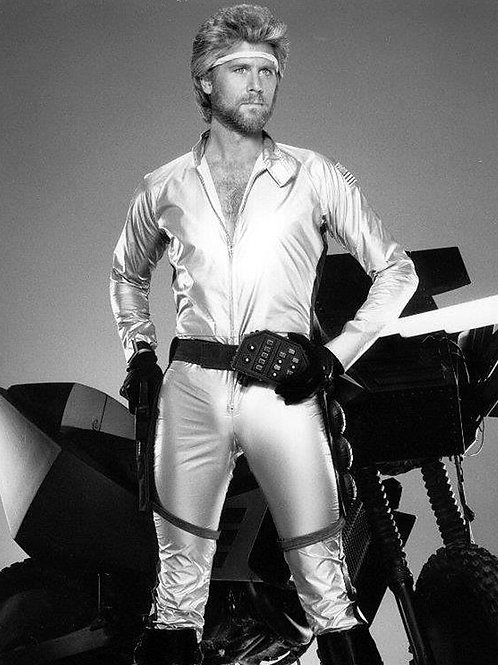 Barry Bostwick in a Skintight Silver Jumpsuit