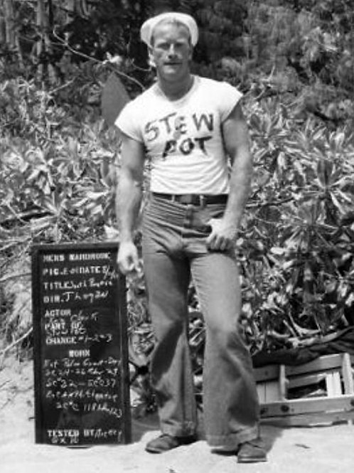 Bulging Ken Clark in a Wardrobe Test for South Pacific