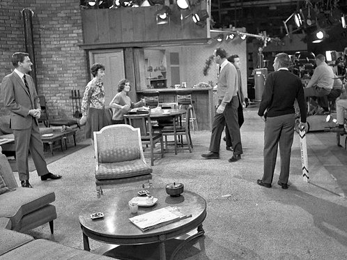Cast of the Dick Van Dyke Show On Set in Front of the Cameras