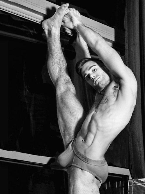 Stretching his Leg
