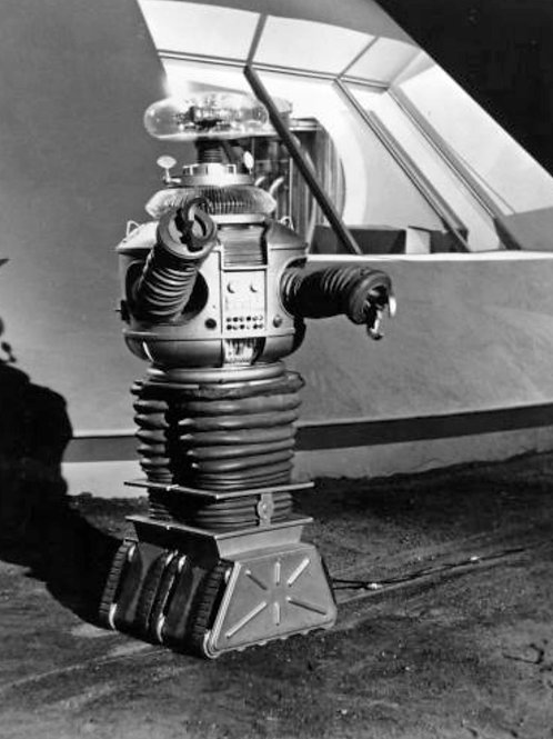 Lost in Space B9 Robot Promo Photo with his Extension Cord Visible