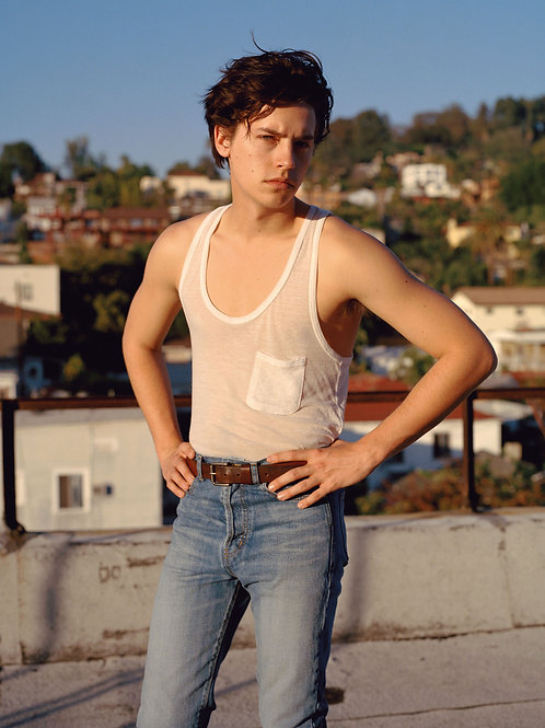 Cole Sprouse in Jeans & a Tanktop