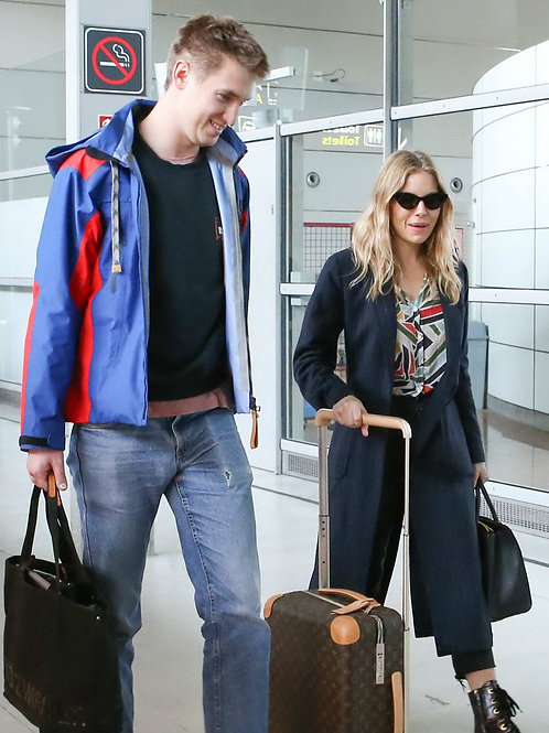 Sienna Miller and Lucas Zwirner at the Airport in Paris