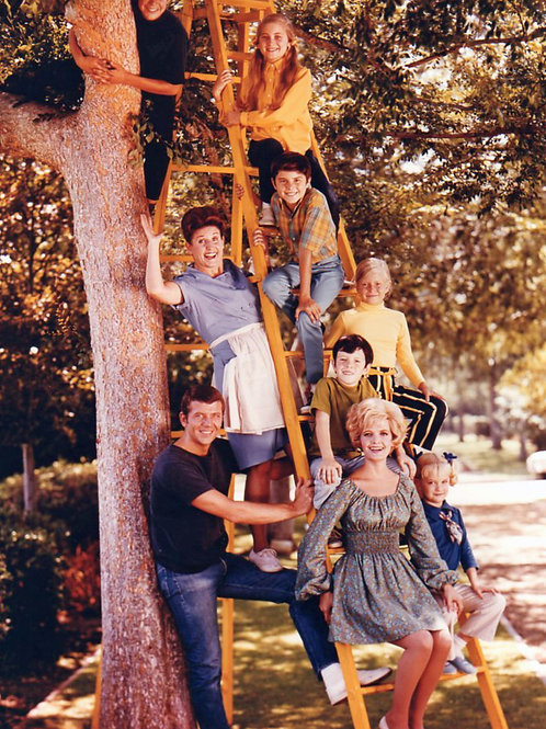 Brady Bunch Cast With Florence Henderson & Maureen McCormick in a Tree