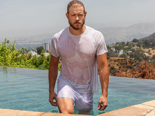 Trevor Donovan all Wet Sporting a Beard