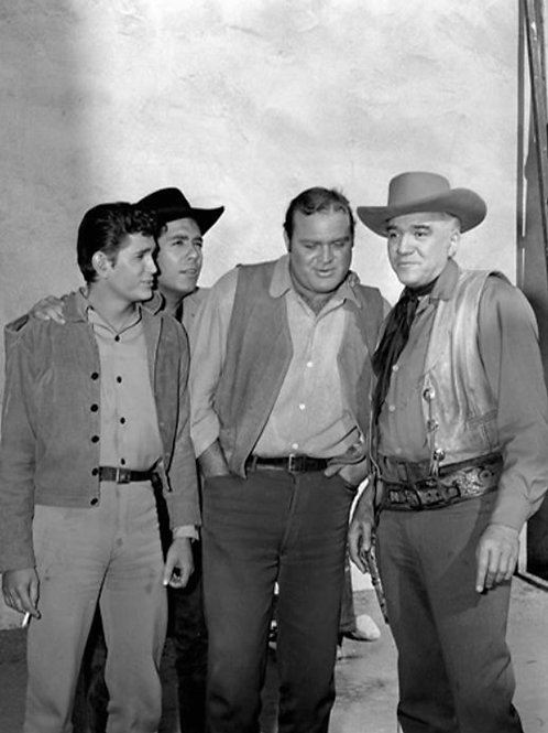 Michael Landon with Cast Members From Bonanza