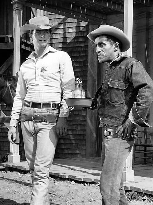 Bulging Actor Peter Brown Beside Sammy Davis Jr