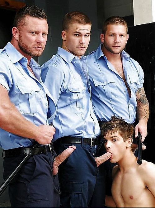 3 Guards Enjoying a Boytoy