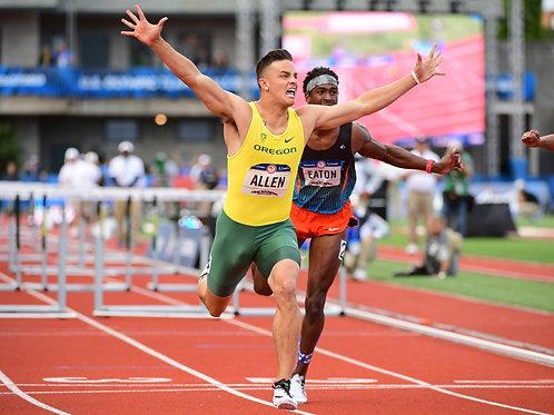 Devon Allen in the Lead