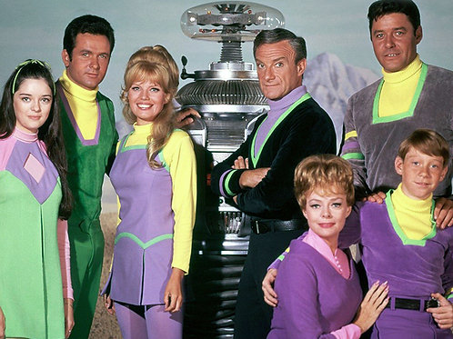 Lost in Space Cast Around the Robot